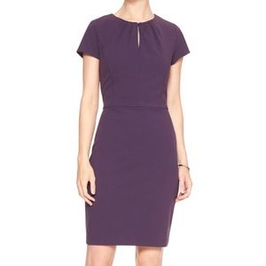 Banana Republic Purple New Career Sheath Dress